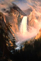 'Lower Falls, Grand Canyon of the Yellowstone', by Albert Bierstadt