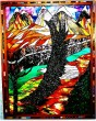 Soaring Eagle Stained Glass by Elenor Graff